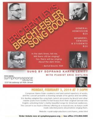 Karyn Levitt to Perform ERIC BENTLEY'S BRECHT-EISLER SONG BOOK, 2/3