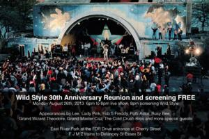 SummerStage to Screen WILD STYLE with Live Hip Hop Show, 8/26