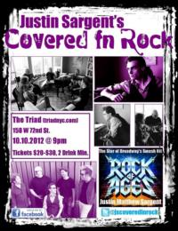 ROCK OF AGES' Justin Sargent Brings COVERED IN ROCK to the Triad Tonight, 10/10