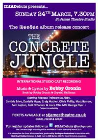 Bobby Cronin's THE CONCRETE JUNGLE International Recording to Celebrate Release at St. James Theatre Studio, March 24