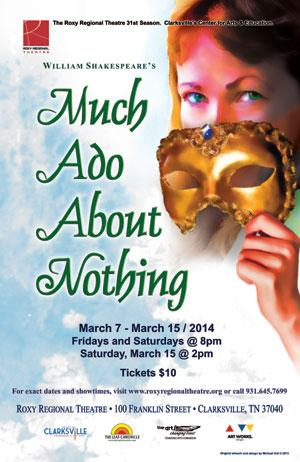 Roxy Regional Theatre to Present MUCH ADO ABOUT NOTHING, 3/7-15