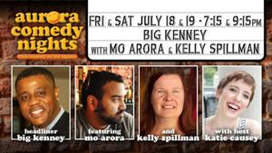 Big Kenney, Featuring Mo Arora and Kelly Spillman Bring Laughs to Aurora Theatre This Weekend