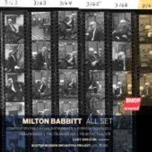 BMOP/sound Releases MILTON BABBITT: ALL SET and GEORGE ANTHEIL: BALLET MECANIQUE