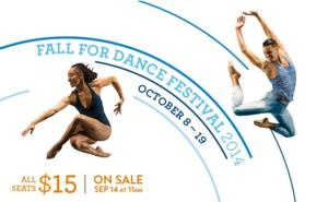 New York City Center Announces 11th Annual FALL FOR DANCE FESTIVAL Lineup, Running Sept & Oct 2014