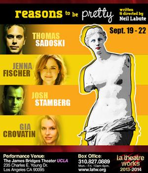 Neil LaBute to Direct Thomas Sadoski, Jenna Fischer and More in REASONS TO BE PRETTY for L.A. Theatre Works, 9/19-22