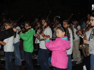 Elisabeth Morrow School Orchestra Performs National Anthem at  Run 10, Feed 10 Race
