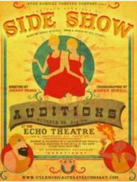 Utah Premiere of SIDE SHOW Sets Auditions for 10/20