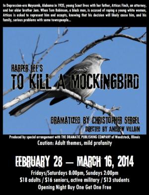 Surfside Players Stage TO KILL A MOCKINGBIRD, Now thru 3/16