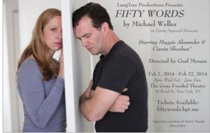 Maggie Alexander and Ciaran Sheehan Star in LungTree's FIFTY WORDS, Now thru 2/22