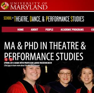 The University of Maryland School of Theatre, Dance, and Performance Launches Performance and Playwriting Initiative