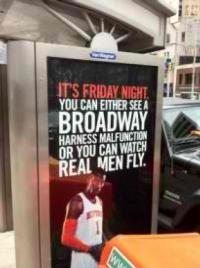 Knicks Pull New Ad That Claims Broadway Actors Not 'Real Men'