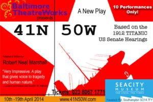 Baltimore TheatreWorks' 41N 50W to Make UK Premiere at Southampton's SeaCity Museum, April 10-19