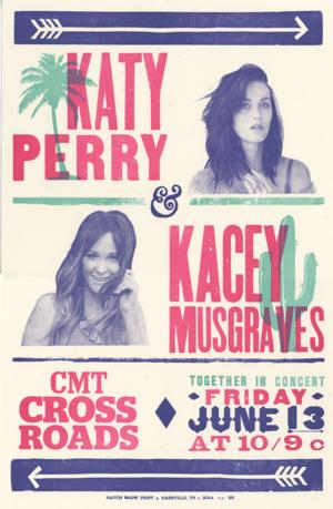 Katy Perry & Kacey Musgraves Set for CMT's CROSSROADS, 6/13