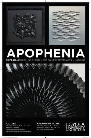 Matt Shlian Opens New Exhibit APOPHENIA at Loyola Today
