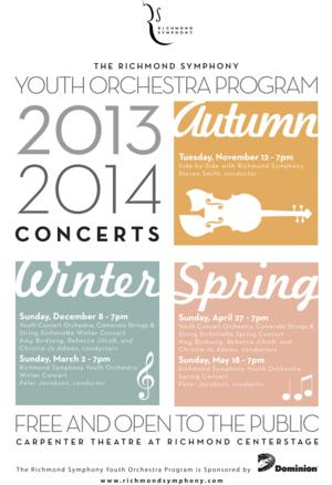 The Richmond Symphony Presents Two Free Youth Orchestra Program Concerts, 4/27 and 5/18