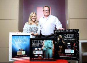 Sony Music Honors Carrie Underwood with Multiple Awards