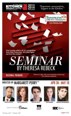 Kitchen Theatre Opens Theresa Rebeck's SEMINAR Tonight