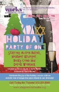 Stageworks Presents HOLIDAY PARTY OF ONE, 11/29-12/16