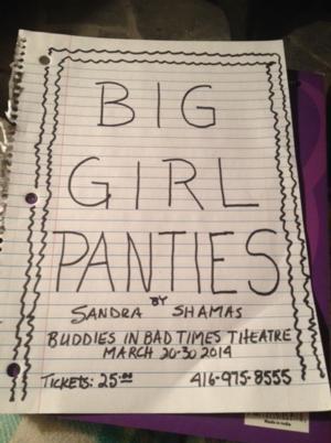 Sandra Shamas to Put on Her BIG GIRL PANTIES at Tallulah's Cabaret, 3/20-30
