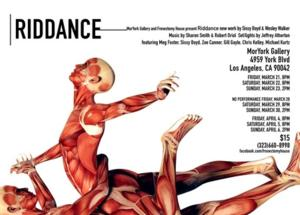 RIDDANCE World Premiere to Open 3/21 at MorYork Gallery