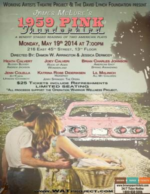 Working Artists Theatre Project & The David Lynch Foundation to Present Reading of 1959 PINK THUNDERBIRD, 5/19