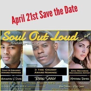 MOTOWN's Ryan Shaw to Bring SOUL OUT LOUD with Brandon Victor Dixon & Morgan James to The Cutting Room, 4/21