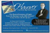 Hanover Symphony Orchestra Presents MUSICAL EVOLUTION OF FRIGHT Concert, 10/28