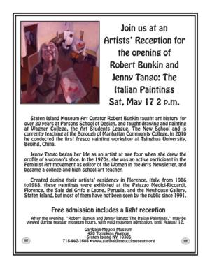 Garibaldi-Meucci Museum to Host Reception for Bunkin and Tango Exhibit, 5/17