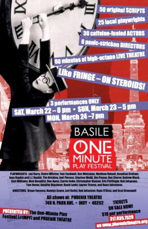 The Basile One-Minute Play Festival Set for Phoenix Theatre, 3/22-24