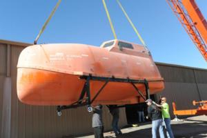 Lifeboat from Oscar Nominated Film CAPTAIN PHILLIPS Docks at Hollywood Cars Museum in Vegas