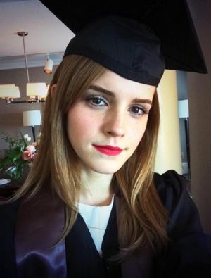 PHOTO: Emma Watson Graduates Brown University