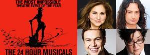 Constantine Maroulis, Lea Delaria, Kathy Najimy, Taran Killam & More Set for 24 HOUR MUSICALS on 4/6
