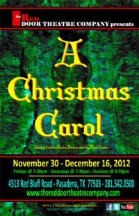 Red Door Theater Company Presents A CHRISTMAS CAROL, 11/30-12/16