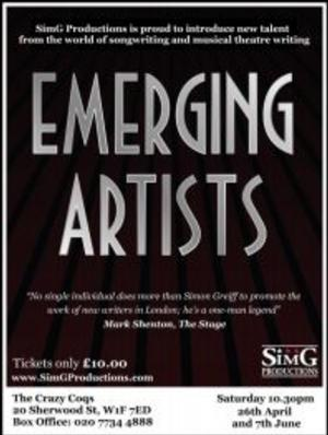SimG Productions to Host Second Event of EMERGING ARTISTS Season, April 26