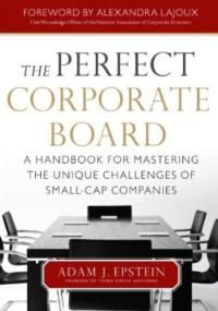 Adam J. Epstein's THE PERFECT CORPORATE BOARD Now Available
