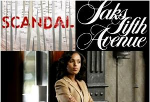 "Saks Fifth Avenue Teams Up with ABC's ""Scandal"""