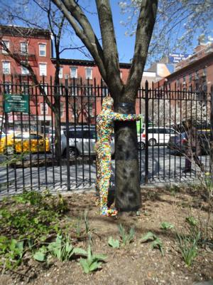 Lego Hugman Sculptures On View in New York's Clement Clarke Moore Park