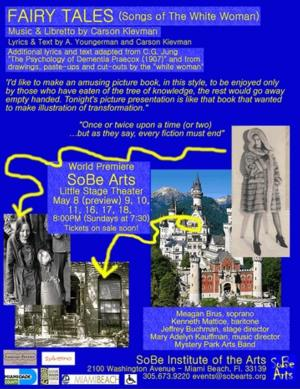 FAIRY TALES (SONGS OF THE WHITE WOMAN) Coming Soon to SoBe Institute of the Arts, 5/8-18