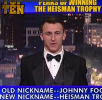 Heisman Trophy Winner Johnny Manziel Reads LETTERMAN's Top Ten List