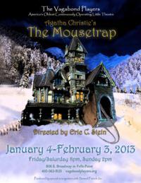 Vagabond Players Presents Agatha Christie's MOUSTRAP, 1/4-2/3