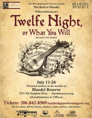 BPA Shakespeare Society to Offer Outdoor TWELFE NIGHT, 7/11-26