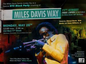 New York Street Renamed in Honor of Jazz Great Miles Davis