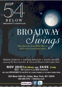 Scott Coulter, Natalie Douglas and More Join BROADWAY SWINGS at 54 Below, 11/20-24