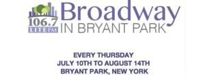 Casts of ON THE TOWN, GENTLEMAN'S GUIDE, BULLETS OVER BROADWAY & More Set for BROADWAY IN BRYANT PARK; Full 2014 Schedule Announced!