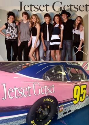 Teen Country Group JETSET GETSET Partners with NASCAR's Leavine Family Racing