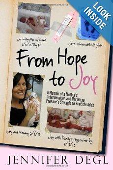 Jennifer Degl Releases Memoir FROM HOPE TO JOY