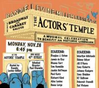 Broadway and Cabaret Stars Join 2012 Musical Fundraiser for The Actors' Temple, 11/26