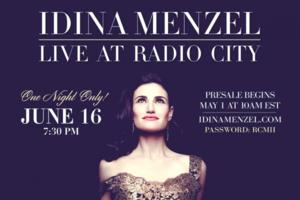 Idina Menzel Comes to Radio City Music Hall Tonight