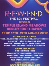 Rewind 80s Music Festival Sells Out