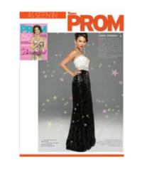 Tiffany Designs Prom Gown Sparkles on TeenPROM Cover